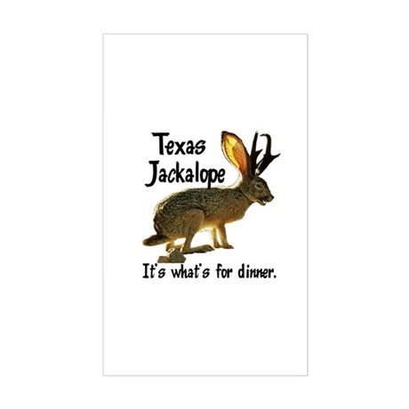 Texas Jackalope Rectangle Sticker