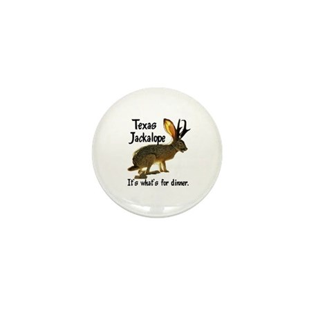Texas Jackalope Mini Button