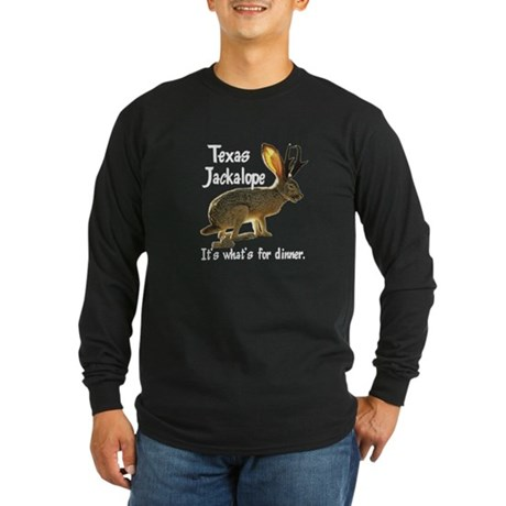Texas Jackalope Long Sleeve Dark T-Shirt