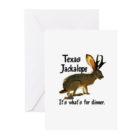 Texas Jackalope Greeting Cards (Pk of 10)
