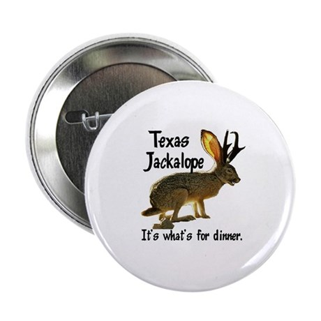 Texas Jackalope Button