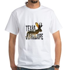 Texas Jackalope White T-Shirt