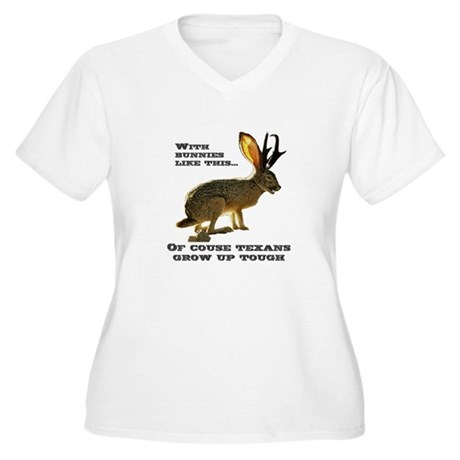 Texas Jackalope Women's Plus Size V-Neck T-Shirt