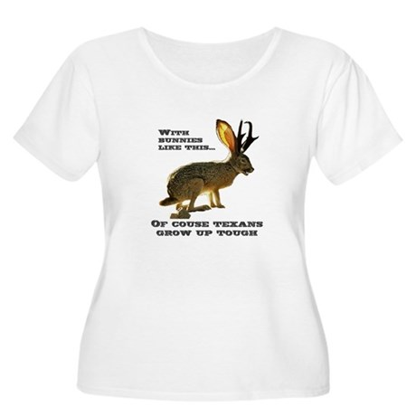 Texas Jackalope Women's Plus Size Scoop Neck T-Shi