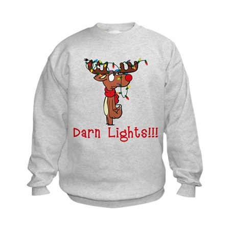 Darn Lights!!! Kids Sweatshirt