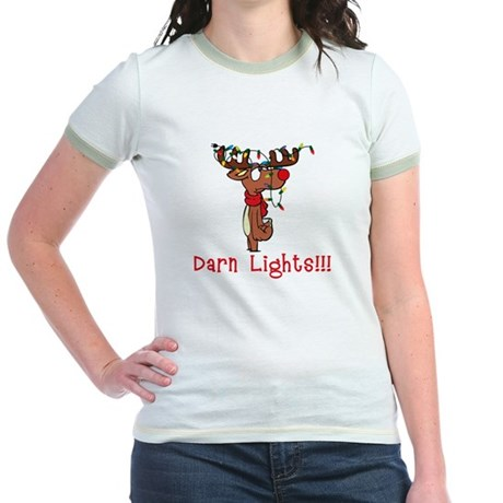Darn Lights!!! Jr. Ringer T-Shirt