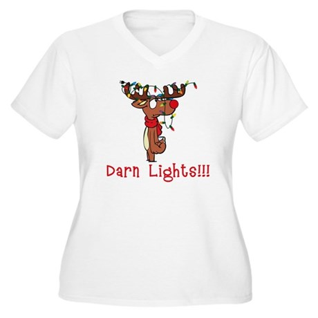 Darn Lights!!! Women's Plus Size V-Neck T-Shirt