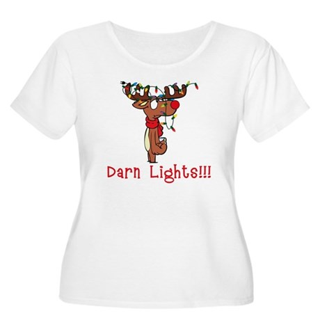 Darn Lights!!! Women's Plus Size Scoop Neck T-Shir