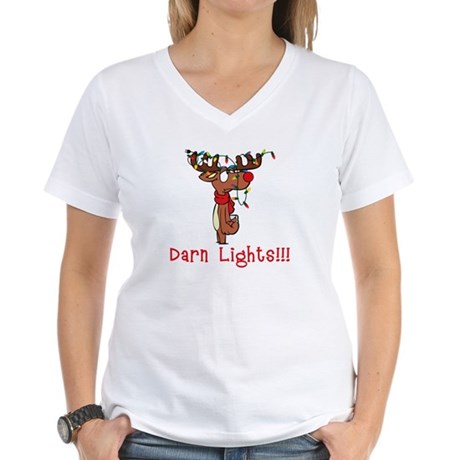 Darn Lights!!! Women's V-Neck T-Shirt