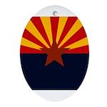 Arizona Flag Ornament (Oval)