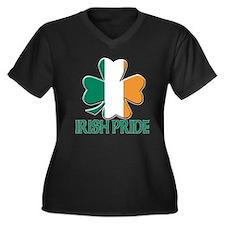 Irish pride Women's Plus Size V-Neck Dark T-Shirt