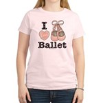I Love Ballet Shoes Pink Brown T-Shirt