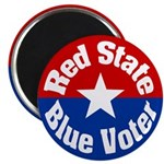 Nevada Red State Blue Voter Magnet
