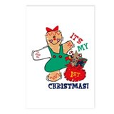 My 1st Christmas (Girl) Postcards (Package of 8)