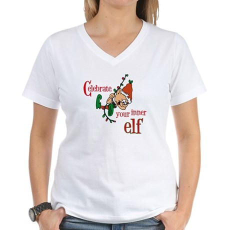 Inner Elf Women's V-Neck T-Shirt