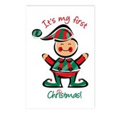 My First Christmas Elf Postcards (Package of 8)