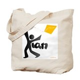Kian Black and Orange Design Tote Bag