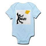 Kian Black and Orange Design Onesie