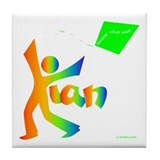 Kian Rainbow Design Tile Coaster