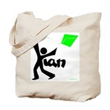 Kian Black and Green Design Tote Bag