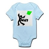 Kian Black and Green Design Onesie