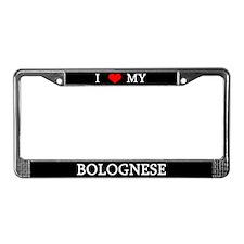 Love Bolognese License Plate Frame