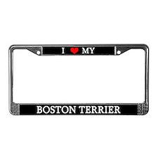 Love Boston Terrier License Plate Frame