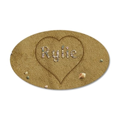 Rylie Beach Love 20x12 Oval Wall Decal