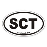 Scotland SCT Euro Oval Decal