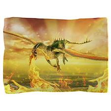 Fire Dragon Pillow Sham