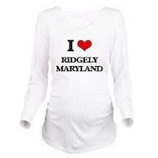 I love Ridgely Maryl Long Sleeve Maternity T-Shirt