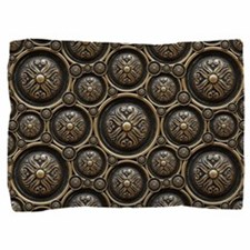 Antique Bronze Pattern Pillow Sham