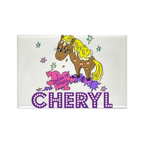 I Dream Of Ponies Cheryl Rectangle Magnet (100 pac