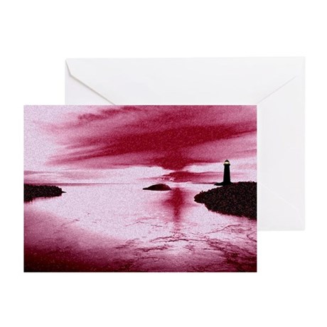 Lighthouse Sunset Greeting Cards (Pk of 10)