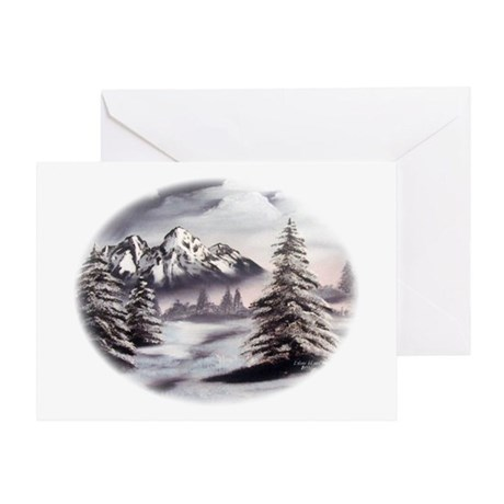 Snow Mountain Greeting Card