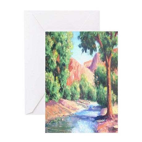 Summer Canyon Greeting Card