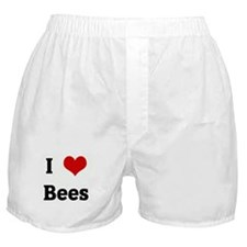 I Love Bees Boxer Shorts