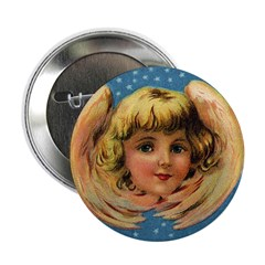 Angel Wings Design Button