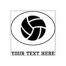 Volleyball Oval (Custom) Sticker
