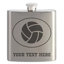 Volleyball Oval (Custom) Flask
