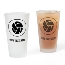Volleyball Oval (Custom) Drinking Glass