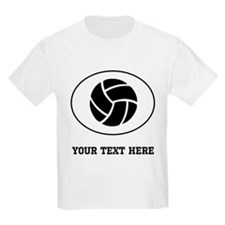 Volleyball Oval (Custom) T-Shirt