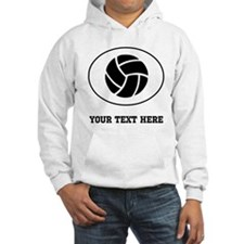 Volleyball Oval (Custom) Hoodie