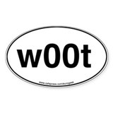 w00t Eurogeek Oval Decal