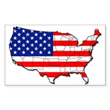 Map of USA - Rectangle Decal