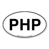 PHP Eurogeek Oval Decal