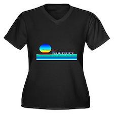 Kourtney Women's Plus Size V-Neck Dark T-Shirt