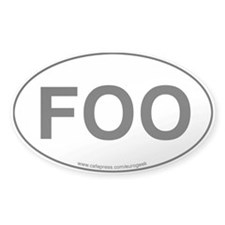 Foo Eurogeek Oval Decal