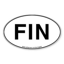 FIN Eurogeek Oval Decal