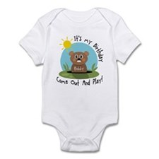 Robby birthday (groundhog) Infant Bodysuit